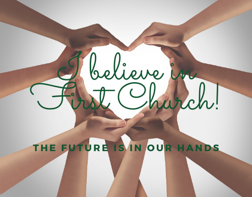 2020 I believe in First Church heart hands